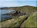 SW5628 : Coastal path above Pestreath Cove by Richard Law