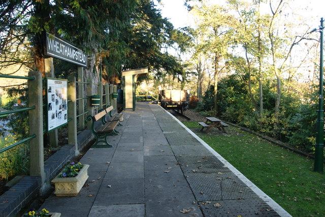 Wheathampstead Station - Restored platform
