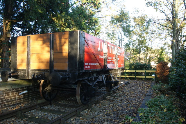 Wheathampstead Station - Restored railway wagon