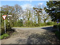 SJ8283 : Junction of the Airport Orbital Cycleway with Moss Lane Styal by Rod Allday