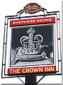 TQ4469 : The Crown Inn sign by Oast House Archive