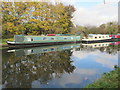 TQ1281 : Somersall, narrowboat on permanent mooring, Hayes : Week 45