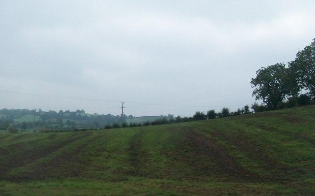 Slurried grassland on the east side of Howe Road