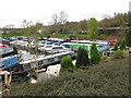 ST6866 : Saltford Marina with narrowboats and motor cruisers by David Hawgood