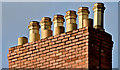 J3372 : Chimney pots, Elmwood Avenue, Belfast (November 2015) by Albert Bridge