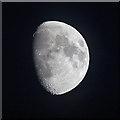 NT6334 : A waxing gibbous moon viewed from Sandyknowe Craigs : Week 47