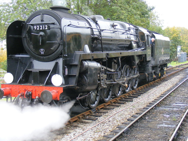 Class 9F Standard Locomotive, running round the train