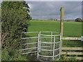 SJ8867 : Kissing gate at junction Shellow Lane & Pexall Rd near Gawsworth by Colin Park