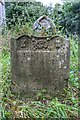 TF9125 : Gravestone in All Saints church ruin, Oxwick by Inkedmik