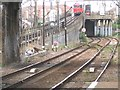 TQ4484 : Little-used crossover west of Barking station by Stephen Craven