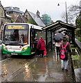 SO2800 : Boarding the Chepstow bus in Pontypool : Week 50