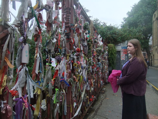 Cross Bones graveyard gate, looking SE