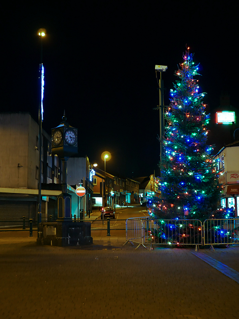 Town Clock and Christmas Tree, Radcliffe Piazza