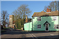 TL6149 : West Wickham: a green house on the corner by John Sutton