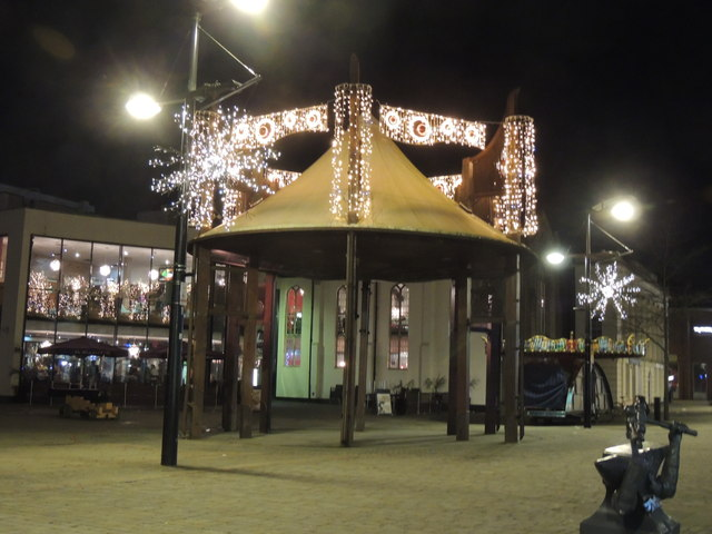 Christmas lights, performance podium-Fareham