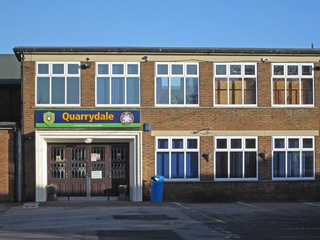 Sutton-in-Ashfield - Quarrydale School entrance