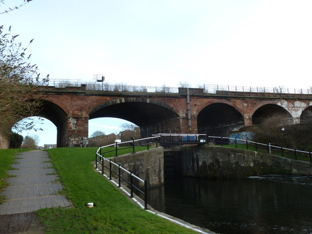Mersey Rail viaduct over the Stanley Dock locks