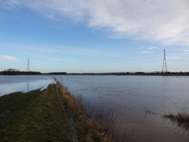 Flooded fields near Rufford