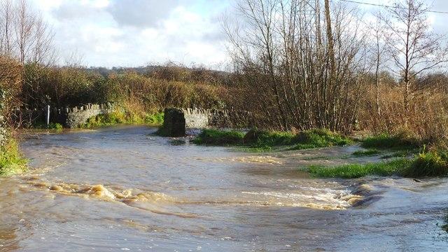 Legg Bridge Flood near Halstock
