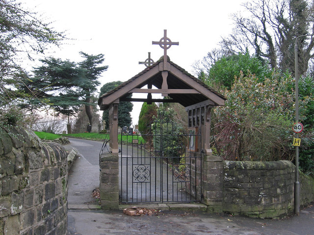 Blackwell - St Werburgh Church - lych gate