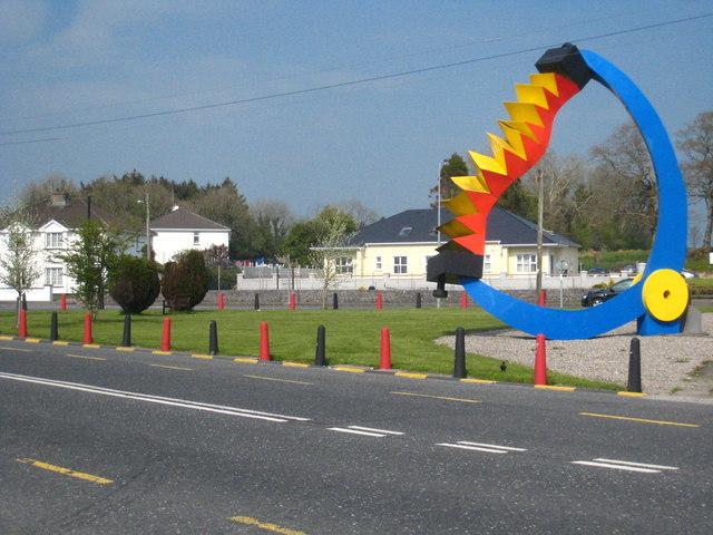 'The Player' sculpture in Ballindine