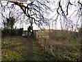 SJ7553 : Footpath onto Barthomley Road near Crewe by Jonathan Hutchins