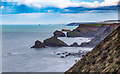 SW6243 : View north east from North Cliffs by David P Howard