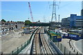 TQ4080 : DLR between Royal Victoria and Custom House by N Chadwick