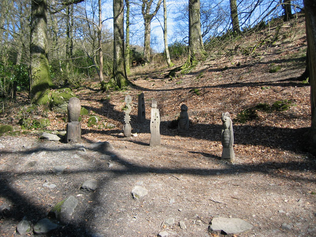 """Waymarkers"", Grizedale Forest sculpture"