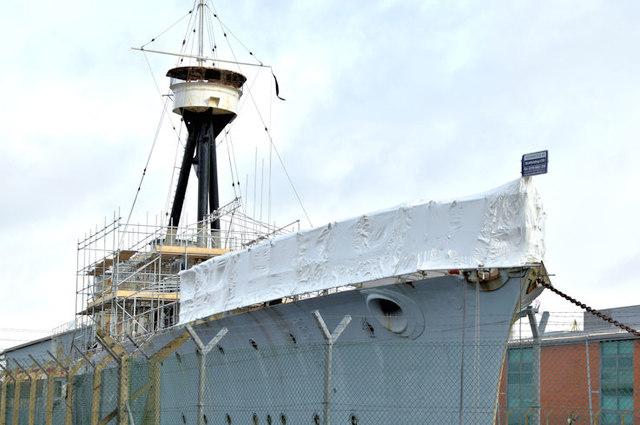 """HMS """"Caroline"""", Belfast - January 2016(1)"""