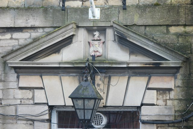 Pediment above the door of the George