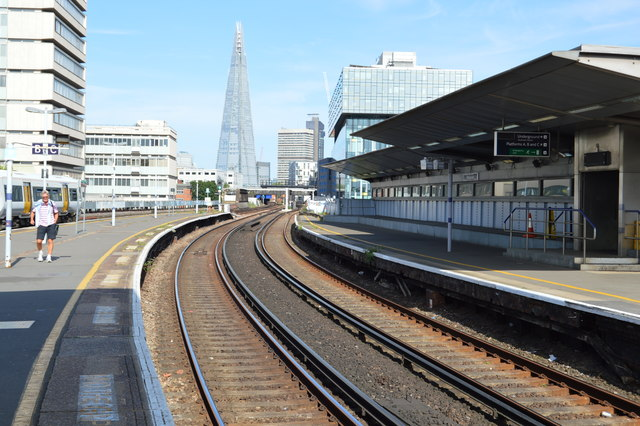 View towards The Shard, Waterloo East Station