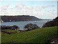 SH5772 : Menai Strait viewed from Upper Bangor by John Lucas