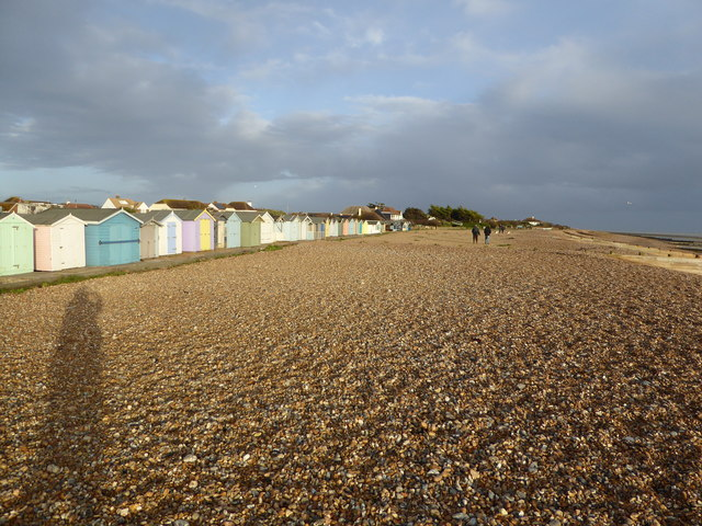 Beach huts at Ferring