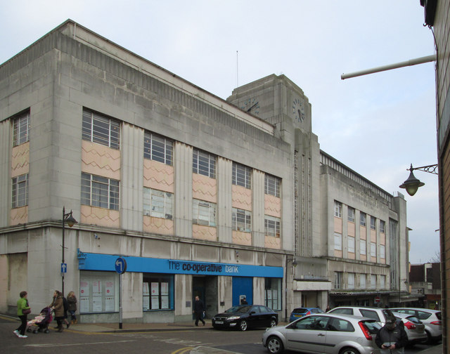 Mansfield - The Co-op Bank and Beales Department Store