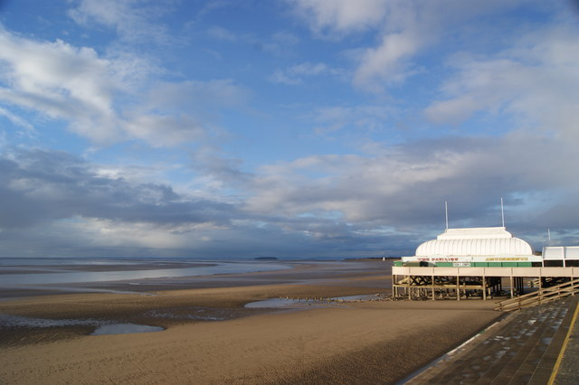 Across the beach at Burnham on Sea
