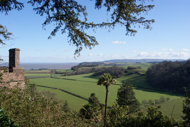 View from the grounds of Dunster Castle