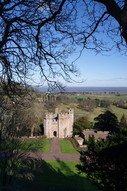 View from Dunster Castle grounds