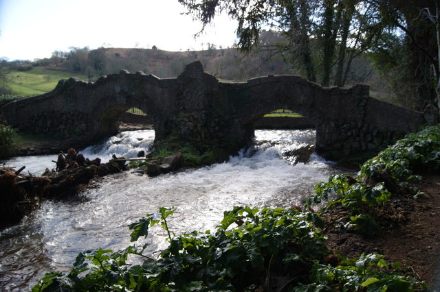 Bridge over the River Avill in Dunster Castle grounds