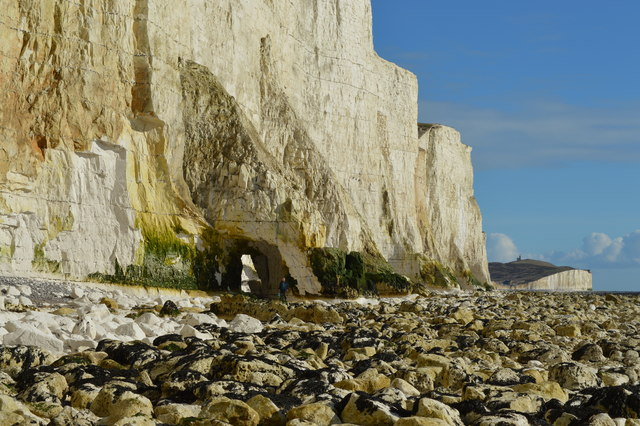 Natural Arch on the cliffs of the Seven Sisters, East Sussex