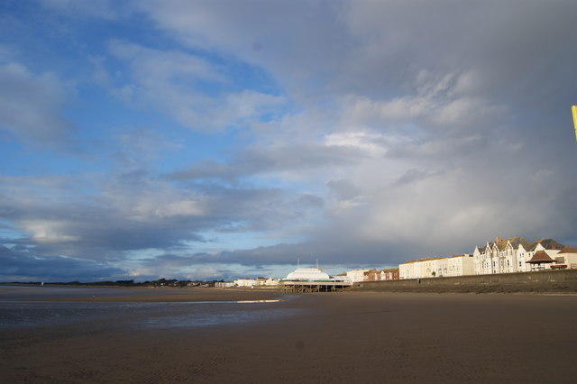 Beach and sea front at Burnham on Sea