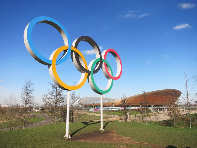 olympic rings and velodrome 169 des blenkinsopp geograph