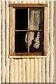 HP6209 : Broken window in abandoned house, Springpark, Baltasound : Week 8