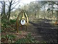 SK5656 : Robin Hood Way information panel in Harlow Wood by Graham Hogg