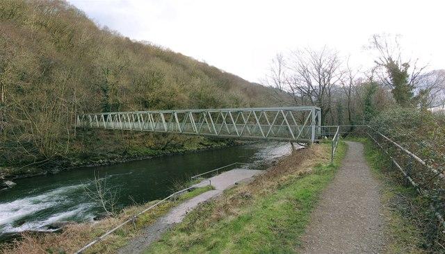 Footbridge over River Tawe