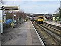 SJ3478 : Hooton Station, Platform 3 by John S Turner