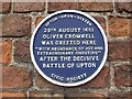 Photo of Oliver Cromwell blue plaque
