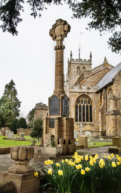 Martock: All Saints Church and War Memorial