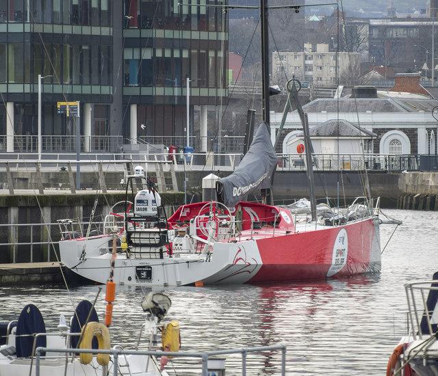 Volvo Ocean 65 'Dongfeng' at Belfast