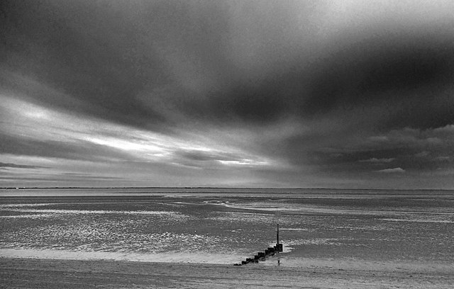 Big dramatic sky at Cleethorpes
